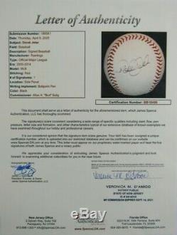Derek Jeter Autographed Official Major League Baseball (JSA) Crisp color/auto