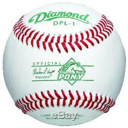 Diamond 6-Gallon Ball Bucket with 30 DPL-1 Pony League Baseballs