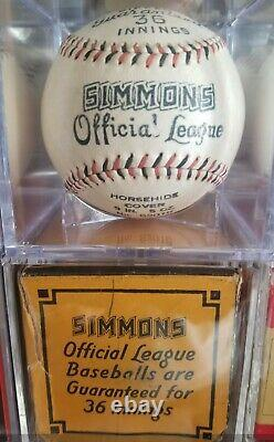 Extremely RARE 1930s Simmons Hardware Official League baseball with BOX
