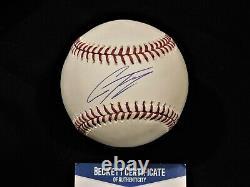 GLEYBER TORRES Signed / Autographed Official Major League Baseball Beckett