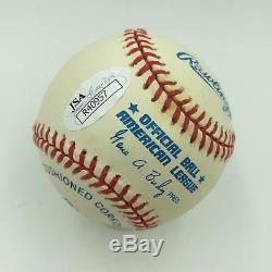 Gary Carter #8 Signed Official American League Baseball With JSA COA