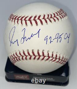 Greg Maddux Autographed Rawlings Official Major League Baseball 92-95 CY LOJO