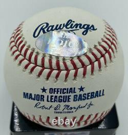 Greg Maddux Autographed Rawlings Official Major League Baseball HOF 14 LOJO