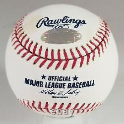 HANK AARON signed Official Major League Baseball BRAVES auto STEINER MLB OML