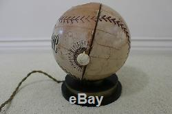 HOF Ferguson Jenkins Vintage 1940s OFFICIAL LEAGUE Baseball Tube Radio LOA WORKS