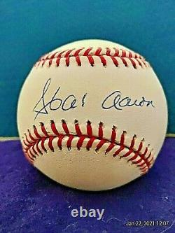 Hank Aaron Auto Signed Official Major League Baseball Scoreboard Coa