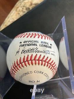 Hank Aaron Autograph Signed Official MLB National League Baseball PSA/DNA Auto