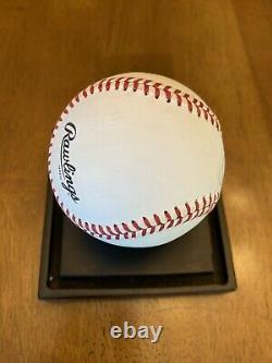 Hank Aaron Signed Autographed Official National League Baseball Braves