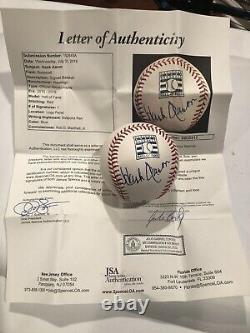 Hank Aaron Signed Eawlings Official Major League HOF Logo Baseball Jsa Letter