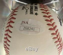 Hank Aaron Signed Official National League Bill White Baseball JSA Z68241