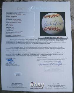 Hank Aaron Single Signed Official Major League Baseball Autographed JSA Cert