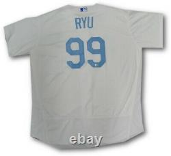 Hyun Jin Ryu Official Major League Team Issue Jersey Fathers Day June 19, 2016