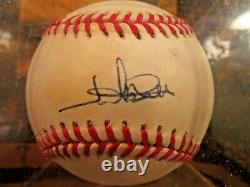 Jim Abbott Signed Autographed Official American League Baseball yankees angels