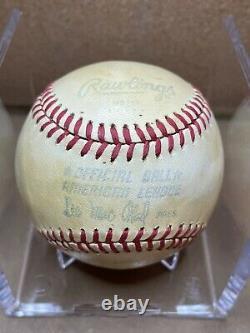 Joe DiMaggio Autographed Baseball on Official Rawlings American League Baseball