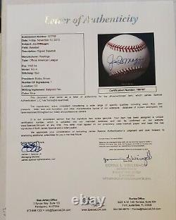 Joe DiMaggio Autographed Official American League Baseball New York Yankees HOF