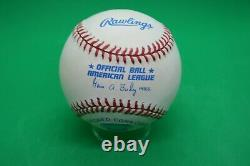 Joe DiMaggio Autographed Official American League Baseball! Numbered with COA