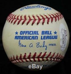 Joe DiMaggio Hand Signed Official American League OAL Baseball Yankees JSA COA