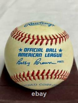 Joe DiMaggio Signed Official AL American League Rawlings Baseball