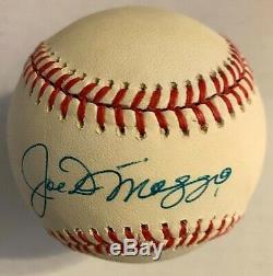Joe DiMaggio Signed Official American League Baseball Beckett Yankees HOF