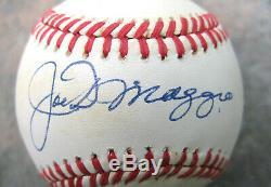 Joe DiMaggio Single Signed Official Major League Baseball Autographed JSA Cert
