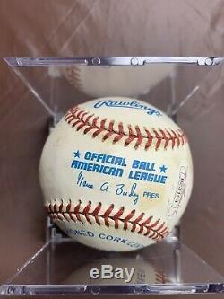 Joe DiMaggio signed ROAL Rawlings Official American League Baseball JSA LOA