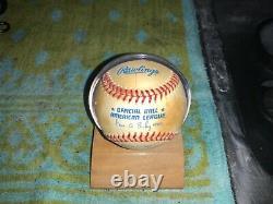 Joe Dimaggio Autographed Official American League Baseball HOF 55 NY Yankees