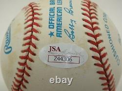 Joe Dimaggio Jsa Signed Official American League Baseball Autograph #z44306