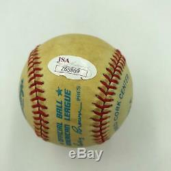 Joe Dimaggio Signed Autographed Official American League Baseball With JSA COA