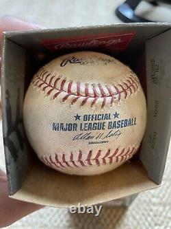Justin Verlander GAME USED Signed Official Major League Baseball