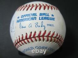 Ken Griffey Jr Seattle Mariners signed Official American League baseball JSA COA