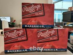 LOT OF 3 DOZEN Rawlings FSOLB1 Official League Baseballs