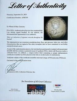 LOU GEHRIG SIGNED OFFiCIAL AMERICAN LEAGUE REACH BASEBALL- DARK & BOLD -PSA/DNA