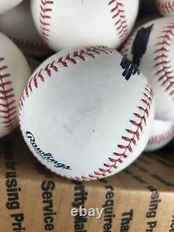 Lot of 22 Rawlings MLB Official Major League Baseballs Blemishes