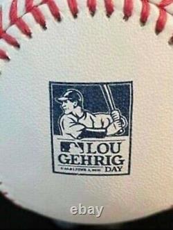 Lou Gehrig Day 2021 LG4 Rawlings Major League Official Commemorative Baseball