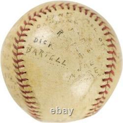 Lou Gehrig Single Signed 1934 Official American League Harridge Baseball JSA COA