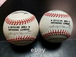 MARK McGWIRE SAMMY SOSA SIGNED AUTOGRAPH OFFICIAL National League BASEBALLS
