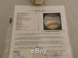 MICKEY MANTLE Signed / Autographed Official American League Baseball JSA COA
