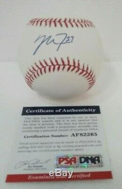 MIKE TROUT Signed ROOKIE Bud Selig Official Major League Baseball PSA DNA PEARL