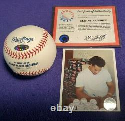 Manny Ramirez Autographed Mint Official Major League Baseball (schwartz Coa)
