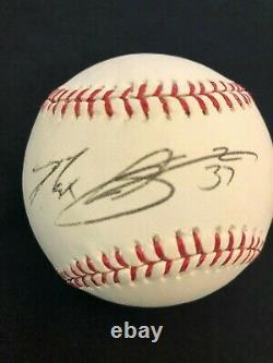 Max Scherzer 2012 World Series Official Major League Baseball Auto JSA