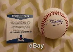 Max Scherzer signed Official Major League baseball Beckett COA #T32408 Nationals