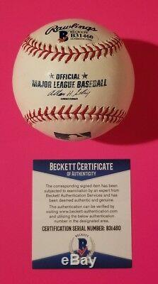 Meatloaf Signed Official Major League Baseball Photo Proof Bat Out Of Hell Bas