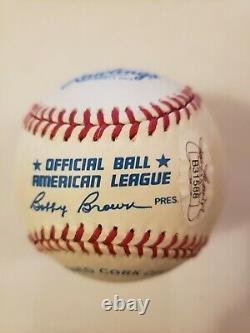 Mickey Mantle #7 Autographed Official American League BaseballFull JSA LOA