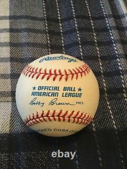 Mickey Mantle Signed Auto Official American League Baseball New York Yankees