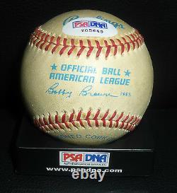 Mickey Mantle Signed Official American League Baseball PSA/DNA COA Yankees Auto
