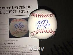 Mike Trout Signed Official Major League Baseball Los Angeles Angels Star Beckett