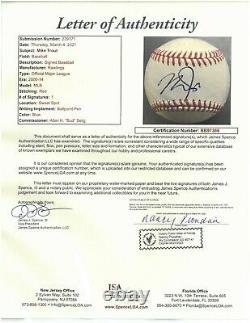Mike Trout signed Rawlings Official Major League Baseball #27- JSA LOA #BB97366