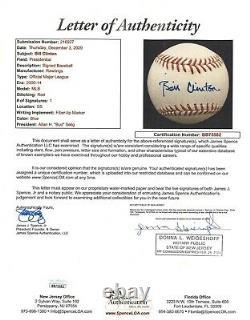Mint President Bill Clinton Signed Official Major League Baseball With JSA COA