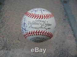 Mrs Lou Gehrig Red Ruffing And Others Official Natl League Baseball Jsa Loa