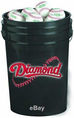 NWT Diamond D-OB Official League Practice Bucket of 30 Baseballs